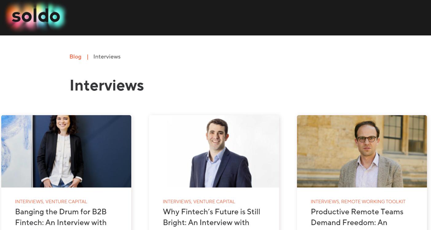 Soldo: Interviews
